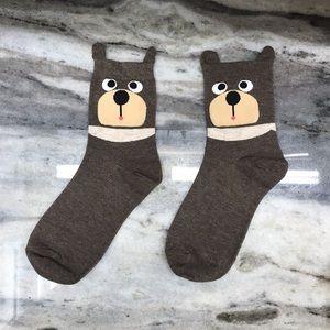 Cute Brown Bear Socks